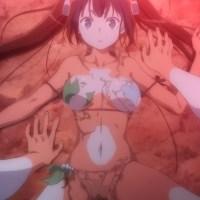 [ダンまち OVA] ダンジョンから戻る途中で見つけた温泉に入るが、水着が溶け出してヘスティア様があられもない姿に・・・