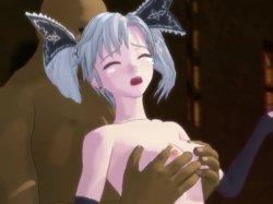 [3DCGアニメ] ゴス娘が大勢のデブ男たちに輪姦され、穴という穴をすべて犯される! (15)