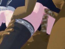 [3DCGアニメ] ゴス娘が大勢のデブ男たちに輪姦され、穴という穴をすべて犯される! (39)
