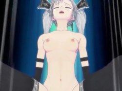 [3DCGアニメ] ゴス娘が大勢のデブ男たちに輪姦され、穴という穴をすべて犯される! (46)