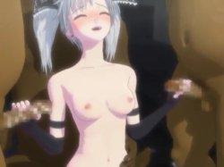 [3DCGアニメ] ゴス娘が大勢のデブ男たちに輪姦され、穴という穴をすべて犯される! (52)