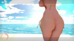 【MMD R18 絶対少女】 魔法少女の倉本エリカが水着からこぼれんばかりの巨乳を揺らしてダンスw (魔法少女) (30)