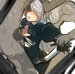 [ニーア オートマタ] ケツがエッロいヨルハ二号B型のエロ画像 厳選画像 (NieR:Automata) (8)