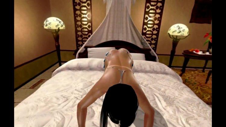 [DOAX3 VR] パラダイス 腕立て伏せの下に入る(VR Paradise push-ups) (14)