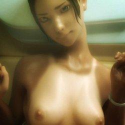 [3DCGアニメ] 日焼け姿が美しいスポ水着の彼女とイチャらぶエッチするエロ動画