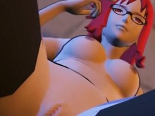 【ナルト,3DCG】香燐がサスケを誘惑して濃厚フェラチオ→背面座位でセックスする動画