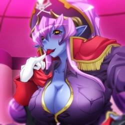 [エロゲ エロアニメ] 悪の女幹部 - 青肌の女悪魔に騎乗位逆レイプで搾り取られる!(ルネ)