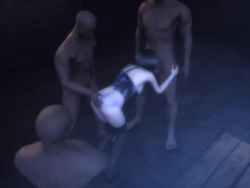 [FF7,エロ動画] ユフィが盗賊団や触手モンスターに襲われる3DCGアニメ (24)