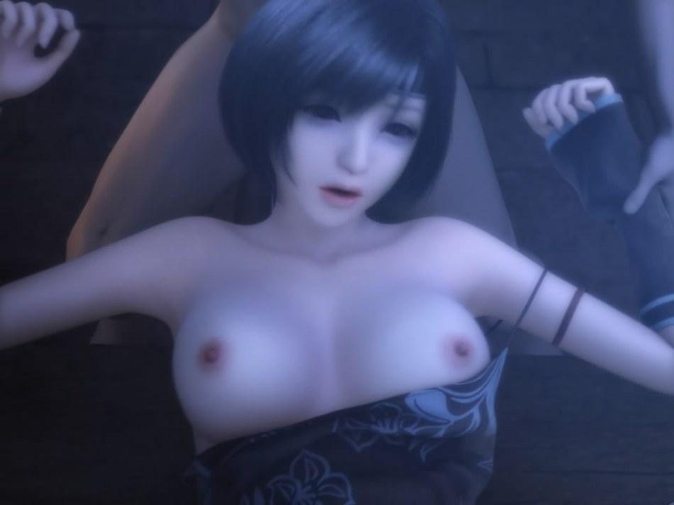 [FF7,エロ動画] ユフィが盗賊団や触手モンスターに襲われる3DCGアニメ (51)