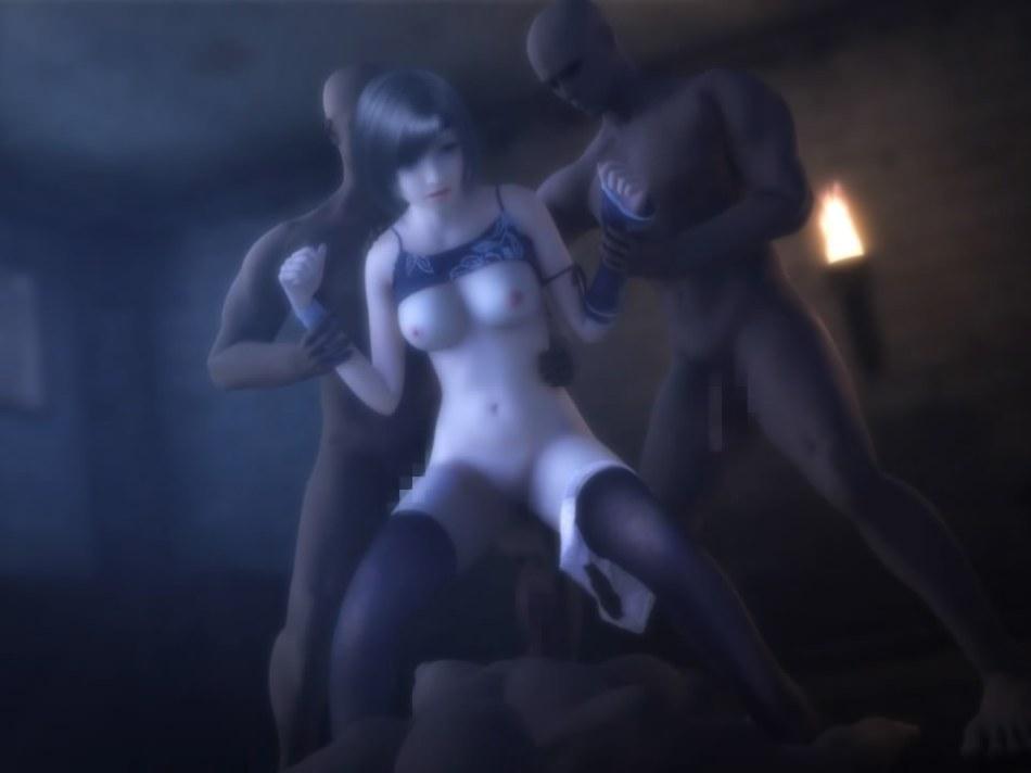 [FF7,エロ動画] ユフィが盗賊団や触手モンスターに襲われる3DCGアニメ (54)