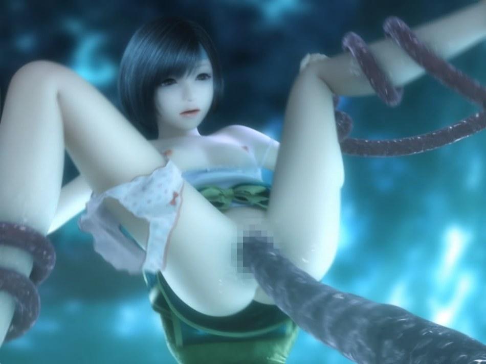 [FF7,エロ動画] ユフィが謎の触手モンスターに捕まり、全身を犯され失禁する3DCGアニメ (28)