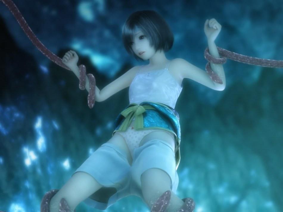 [FF7,エロ動画] ユフィが謎の触手モンスターに捕まり、全身を犯され失禁する3DCGアニメ (9)