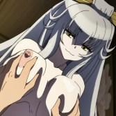【エロアニメ】銀髪妖狐が花魁に化けてデブ親父のお相手を・・・連発でたっぷり中出しされてイっちゃいます!!