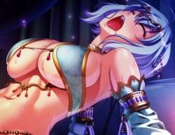 [エロゲ プレイ動画] 高級踊り子の美女と種付けセックス! メッセリア Hシーン (巨乳ファンタジー2if)