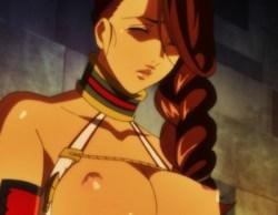 [エロアニメ] 褐色の巨乳女剣士が変態調教師に乳首やクリトリスに電気流されて喘ぎまくる♪ (クイーンズブレイド)