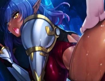 [エロゲ プレイ動画] ダークエルフの女将軍も雌の本能には逆らえず、自らオ〇ンコを広げて処女レイプを求める!