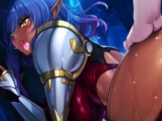 【エロゲ プレイ動画】ダークエルフの女将軍も雌の本能には逆らえず、自らオ〇ンコを広げて処女レイプを求める!