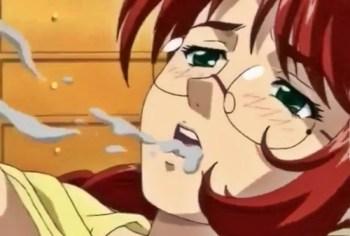 【エロアニメ】巨乳メガネ人妻が借金のカタに男たちに輪姦レイプされてしまう!