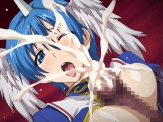 【エロアニメ】触手の魔物に襲われる巨乳少女!アナルもオ〇ンコも犯されて白濁液で汚されまくる!!