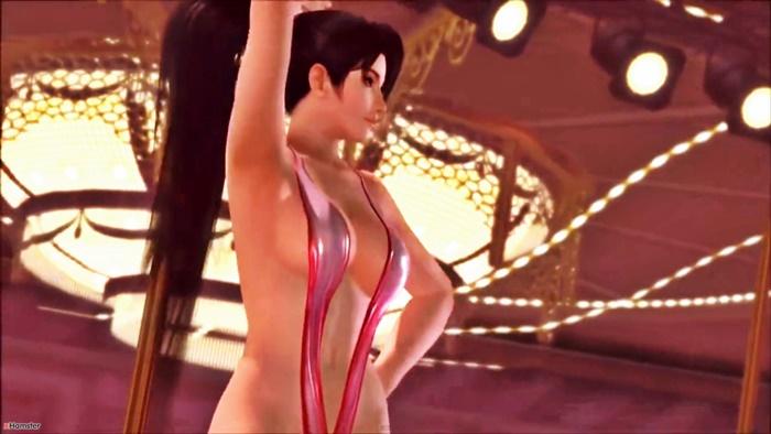 [DOA] 紅葉がほとんど具が見えてる水着でセクシーダンス! [3DCG]