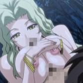 【エロアニメ】ブロンド巨乳美女に野外で押し倒されてパイズリ→青姦セックスへ…!