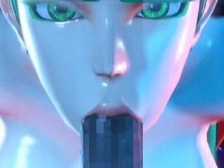 【3DCGアニメ】モリガンが極太ペニスでイマラチオされ、たっぷり口内射精される! (SFM,ヴァンパイア)