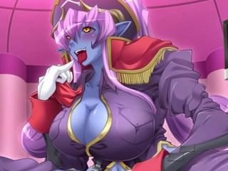 【エロゲ プレイ動画】巨乳の青肌女悪魔を調教レイプ! (悪の女幹部)