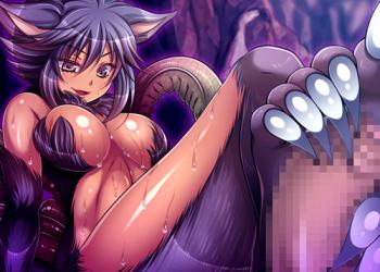【エロゲ プレイ動画】ドMの勇者は狼娘の鋭い爪で足コキされてフル勃起射精しちゃう♪ (犯され勇者IV)