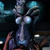 【Warframe】巨乳エイリアン忍者に騎乗位素股してもらう3Dエロアニメ (SARYN)