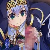 『女装千年王国』女装聖女にお〇んぽナデナデされて大量射精!