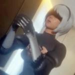 [ニーア オートマタ] 2Bが手コキ・パイズリでご奉仕ぶっかけされる3Dアニメ
