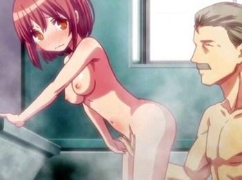 【エロアニメ】変態紳士のおじさんがロリ巨乳の娘にエッチな教育を施す!