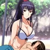 【年上・お姉さん】普段は凛々しい姉がビーチで公開青姦されて乱れまくる!
