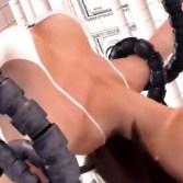 【触手・レイプ】美人エージェントが機械触手に犯され、果てしない快楽拷問を受ける!