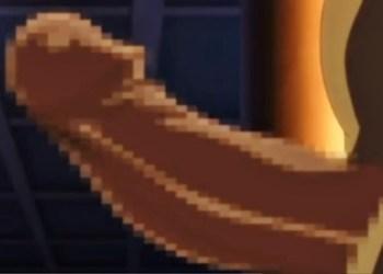 こんなの絶対入るわけないwwwダークエルフの女戦士がオークの巨大ペニスをぶち込まれて悶絶!!