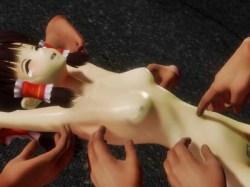 【東方MMD】拘束された博麗霊夢が全身くすぐり拷問でアヘ顔アクメ!