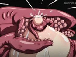 ※一般アニメです。イボイボの触手が爆乳娘の母乳を搾りつくす!!