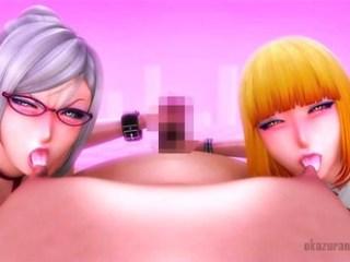 【監獄学園】ドスケベ過ぎる白木芽衣子と緑川花が囚人で性欲処理!!