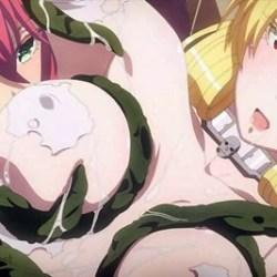 【sin 七つの大罪】金髪女悪魔が触手で拘束されて、服だけ溶かす媚薬で全身が性感帯に!?