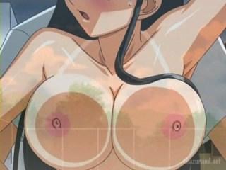 「やだ.....!外に見えちゃう!」窓際セックスで外の人たちにおっぱい晒しまくり!(そらのいろ、みずのいろ)