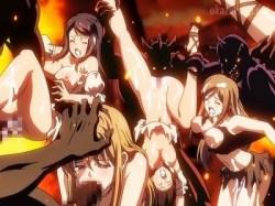 魔物と傭兵団が手を組んで襲ってきた!?目的は女を犯すこと、ただそれだけ.....!