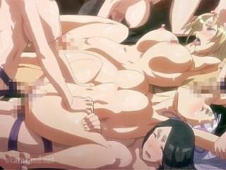 【ハーレム・乱交】綺麗なお姉さんたちがペニバン付けてレズ乱交!