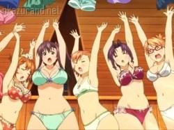魔法で女の子たちが服を剥かれ、下着姿に!巨乳も貧乳もあって絶景ですなwww
