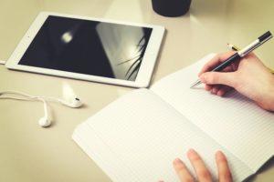 勉強する画像