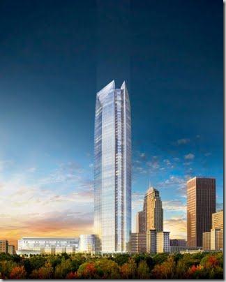 Devon Tower and the Oklahoma City skyline