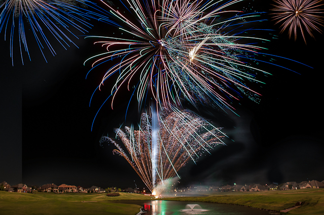 Rose Creek Edmond OK Fireworks 2012