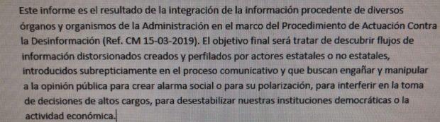 El órgano censor del Gobierno, el CNPIC, rastrea «la información que busca crear alarma social o polarizar»