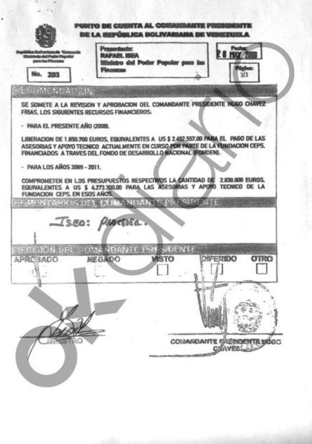 El contrato para labores de asesoría al Gobierno venezolano abarca los años 2008, 2009, 2010 y 2011.