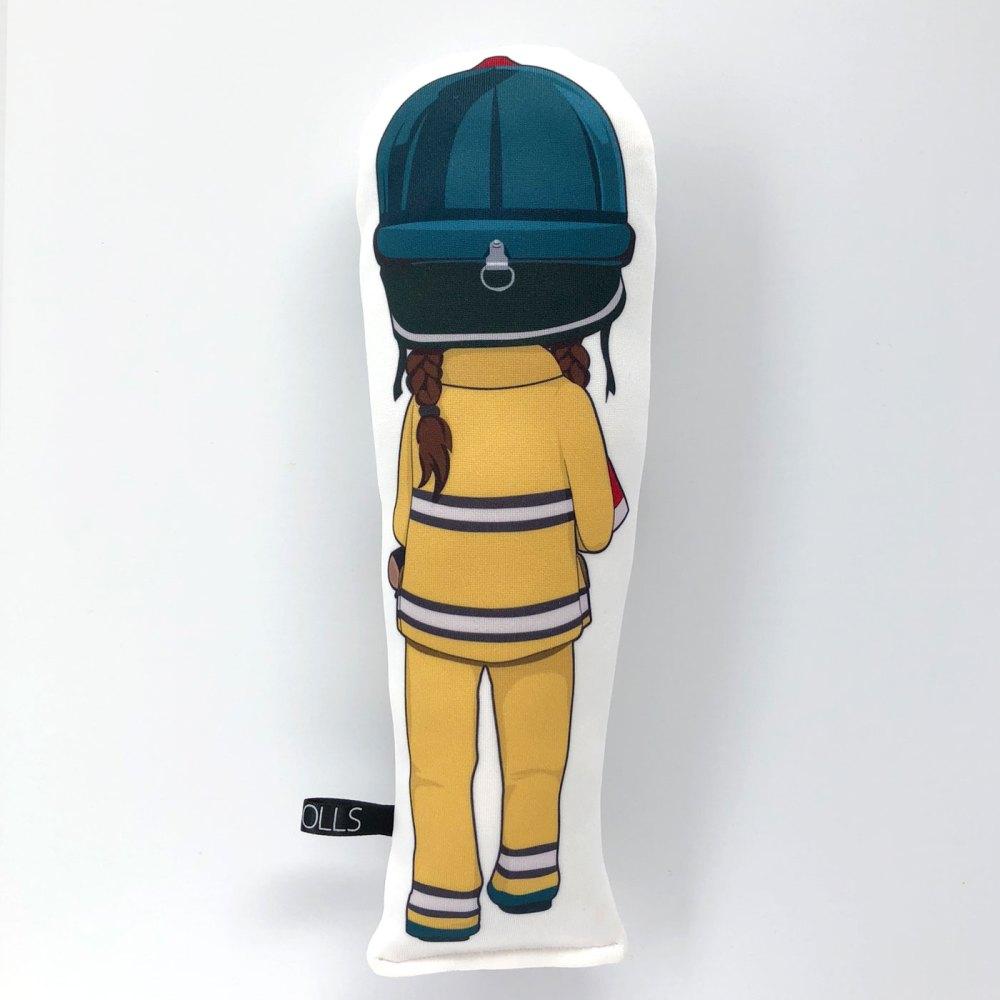 Frankie Firefighter doll back