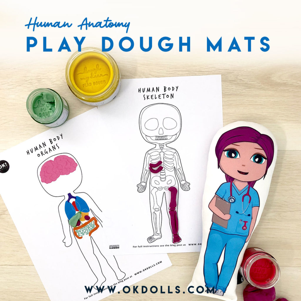 Kids Human Body Activity Free Stem Play Dough Mat Printables